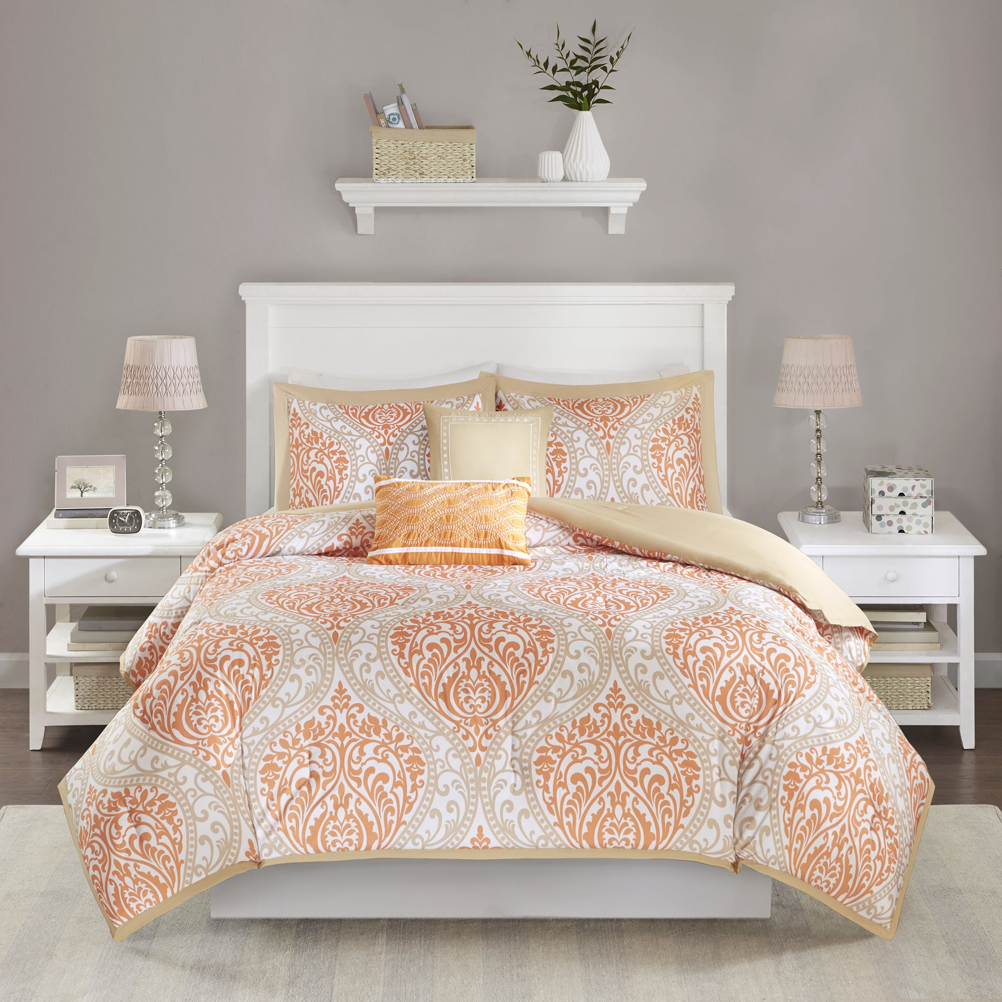 essential queen home plaid blue bedding and designs orange comforter complete bed sets navy night set