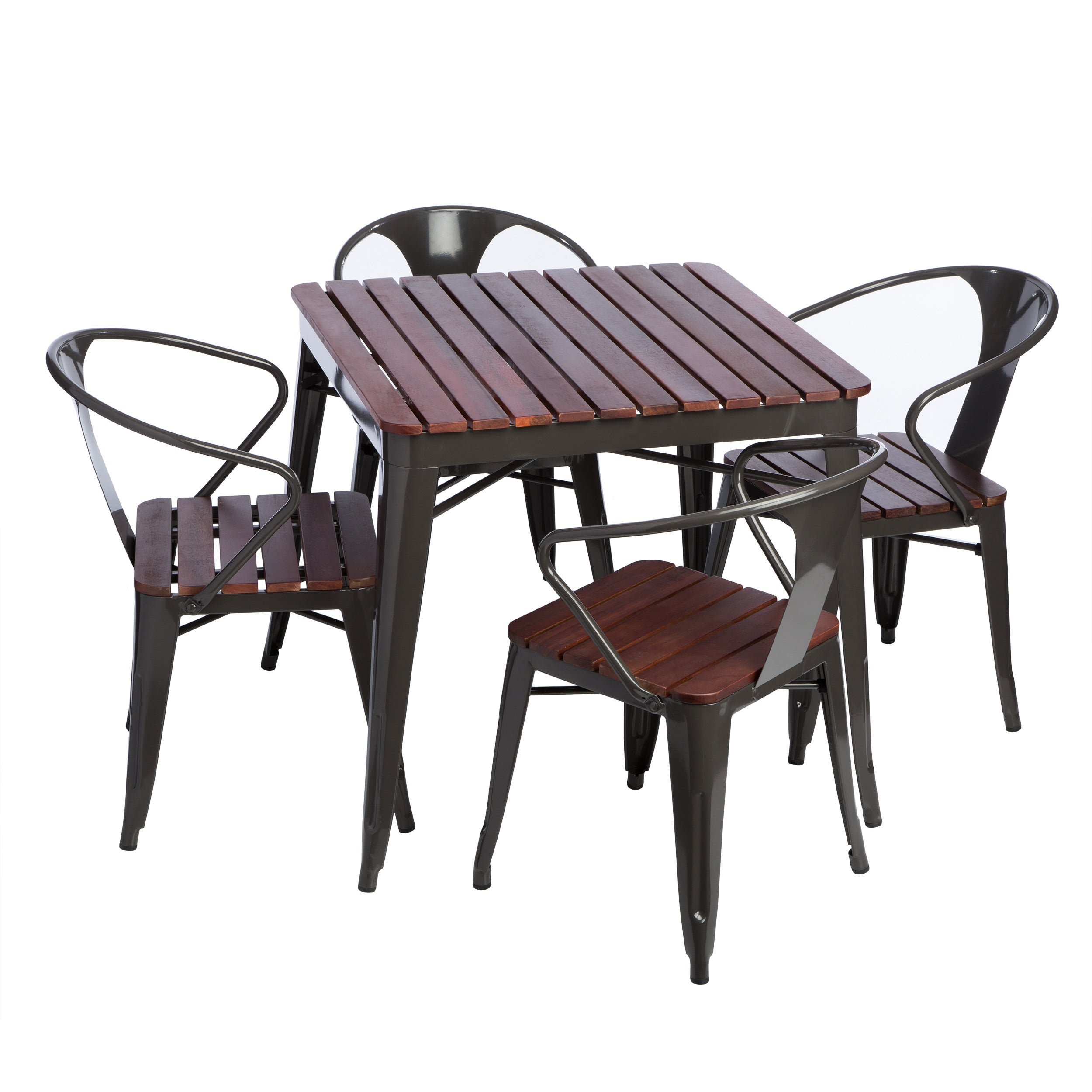 Carbon Loft Jardin 5 Piece Outdoor Dining Set Free Shipping  # Table De Jardin Simply Market