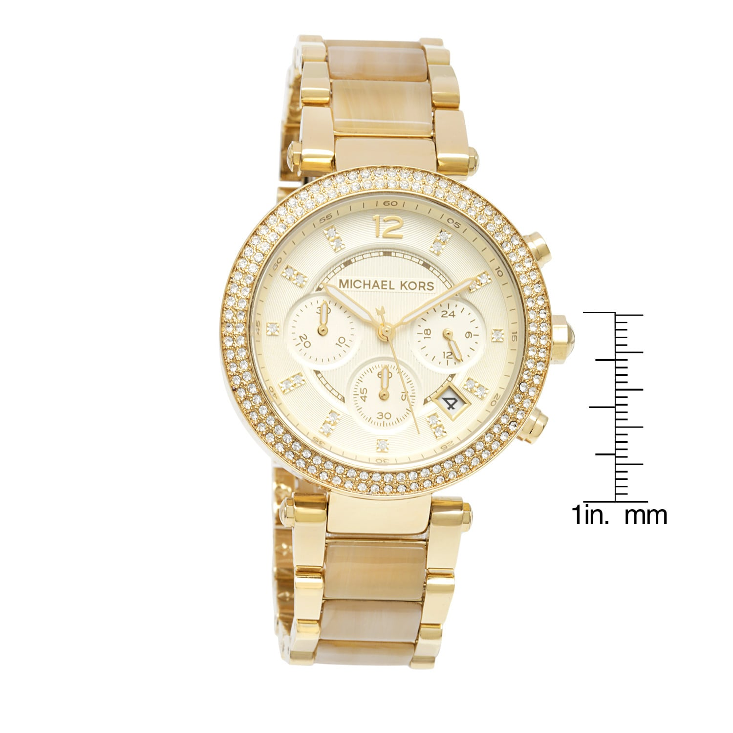75b82665b165 Shop Michael Kors Women s MK5632  Parker  Chronograph Goldtone Watch - Gold  - Free Shipping Today - Overstock - 8755026