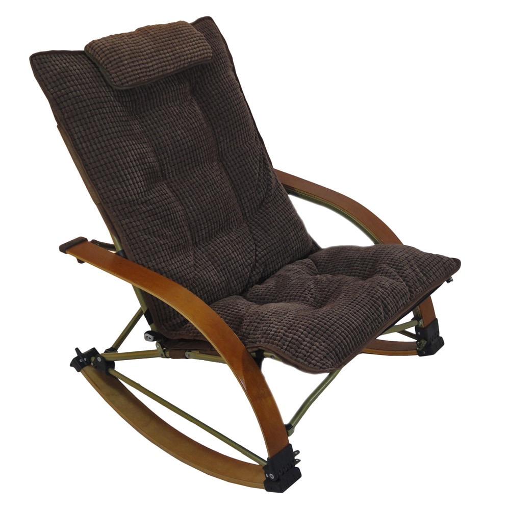 Folding Bentwood Rocking Chair With Extendable Footrest And Removable Cover    Free Shipping Today   Overstock.com   16000470