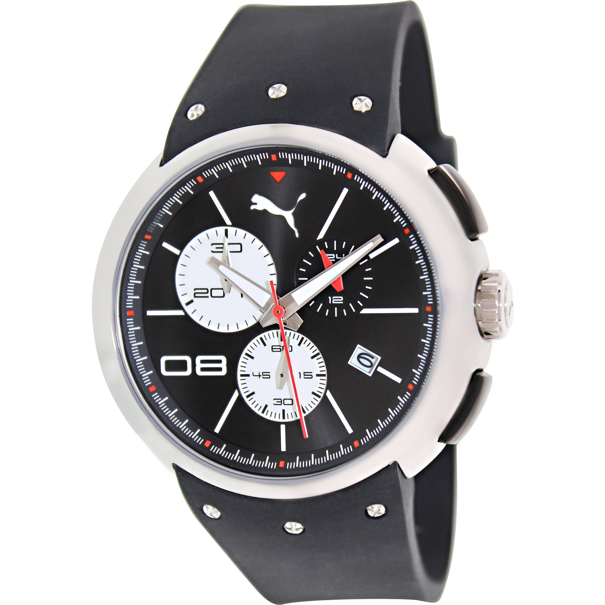 db1e0a99afff Shop Puma Men s Sport Black Silicone Quartz Watch with Black Dial - Free  Shipping Today - Overstock - 8757917