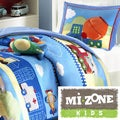 Mi Zone Kids Truck Zone Pattern 4-piece Comforter Set