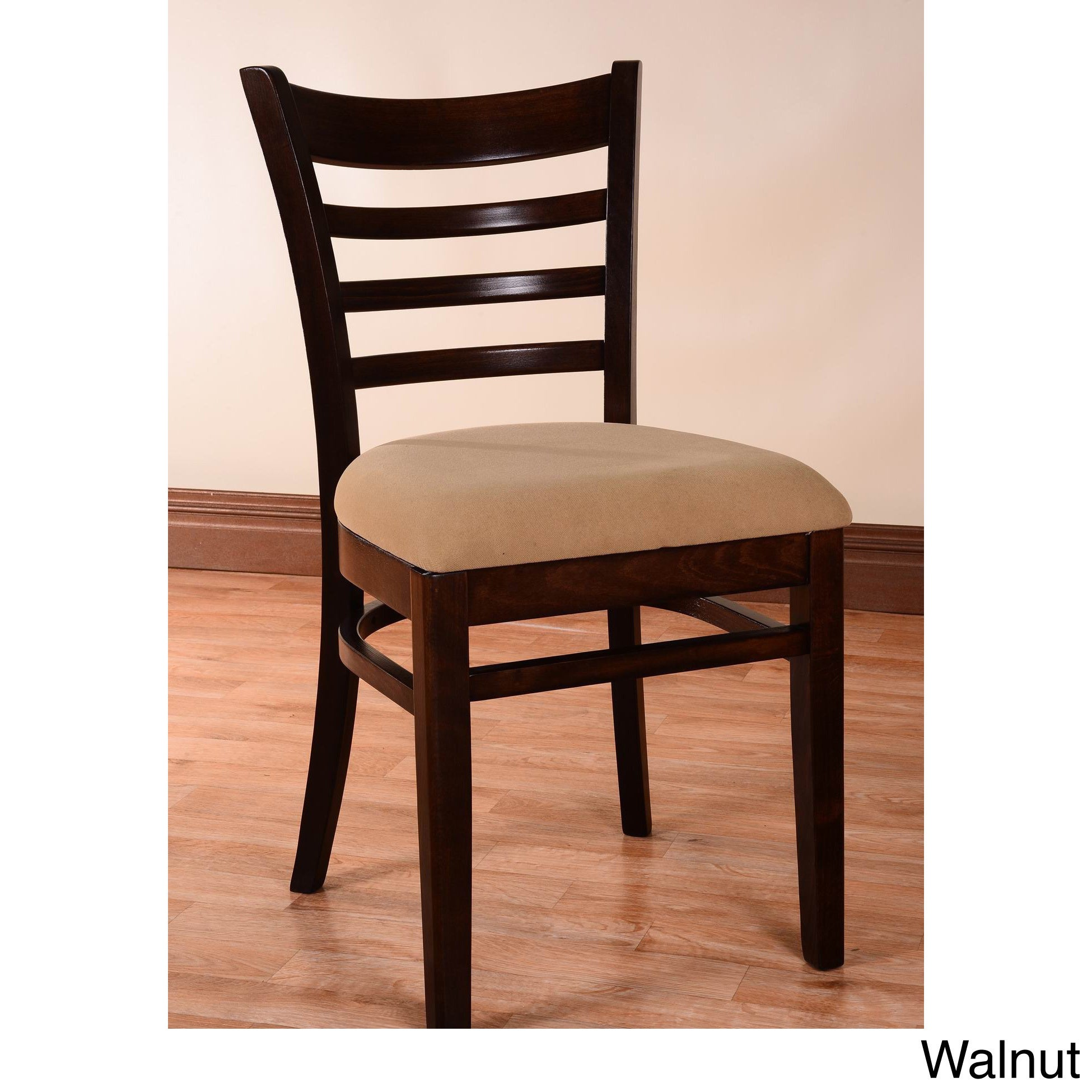 Ordinaire Shop Ladder Back Two Tone Wood Dining Chairs   Free Shipping Today    Overstock.com   8760766