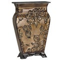 Elements 14-inch Gold Floral Embossed Base