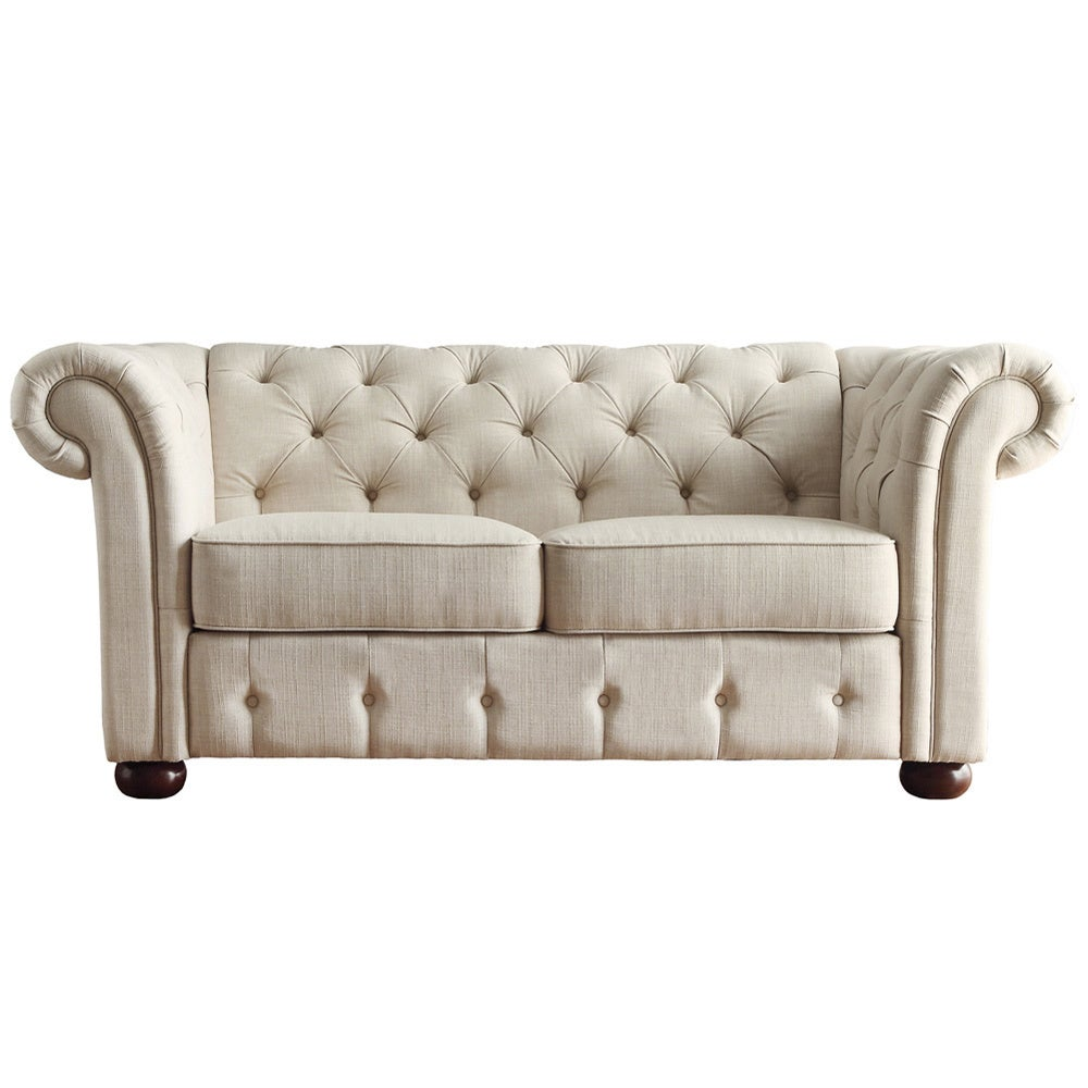 loveseat of luxury large fresh white high tufted love leather button seat back size furniture magnificent