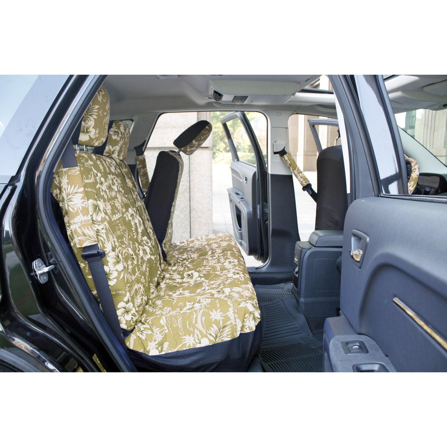 Oxgord hawaii beige tan 17 piece seat cover set with hawaiian oxgord hawaii beige tan 17 piece seat cover set with hawaiian hibiscus flowers free shipping on orders over 45 overstock 16009650 izmirmasajfo Choice Image