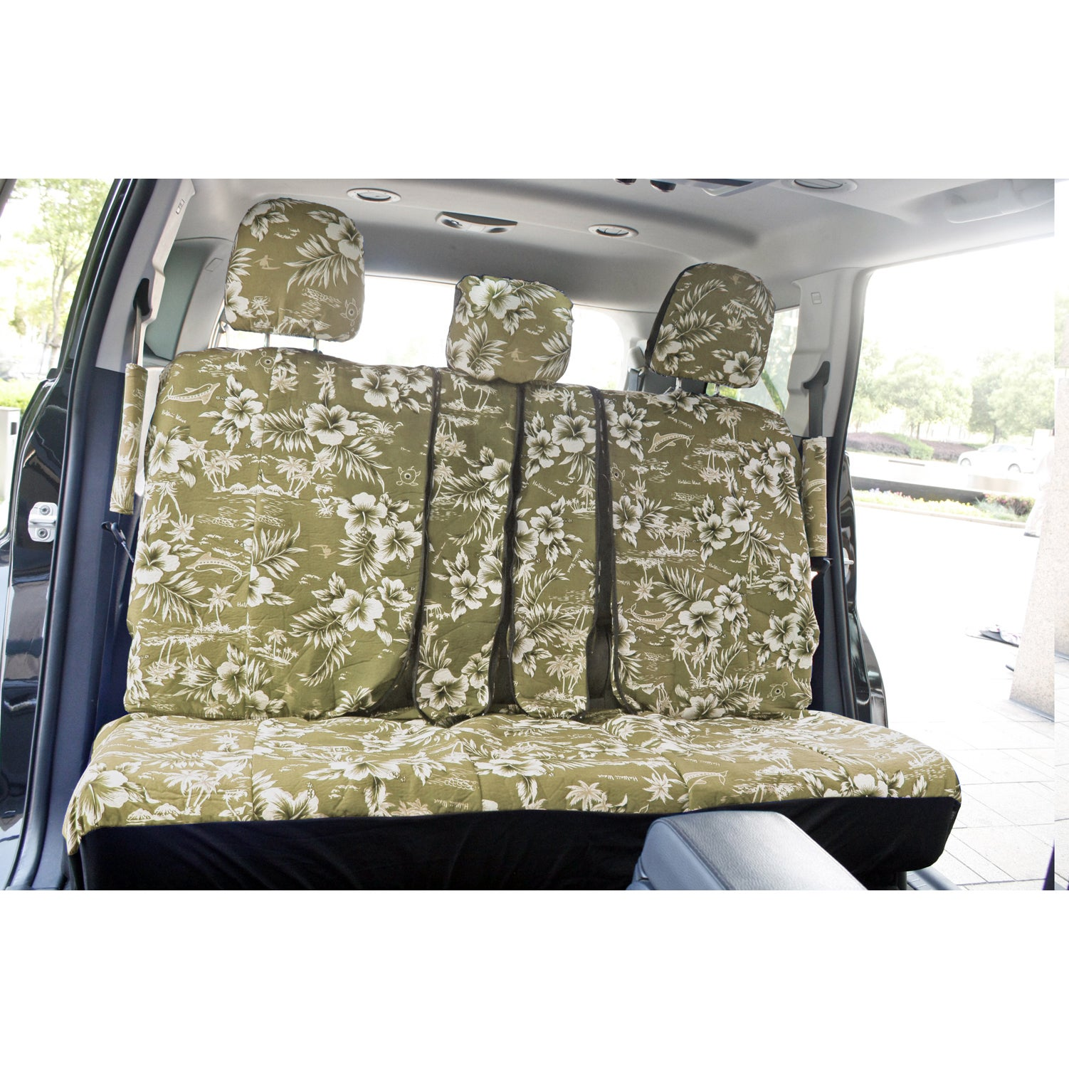 Shop oxgord hawaii beige tan 17 piece seat cover set with hawaiian shop oxgord hawaii beige tan 17 piece seat cover set with hawaiian hibiscus flowers free shipping on orders over 45 overstock 8768241 izmirmasajfo