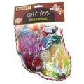 Multipet Holiday Stocking 10-piece Cat Toy Set
