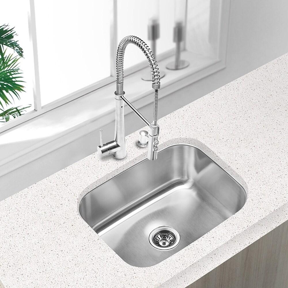 Clark Stainless Steel Large Single-bowl Undermount Kitchen Sink ...