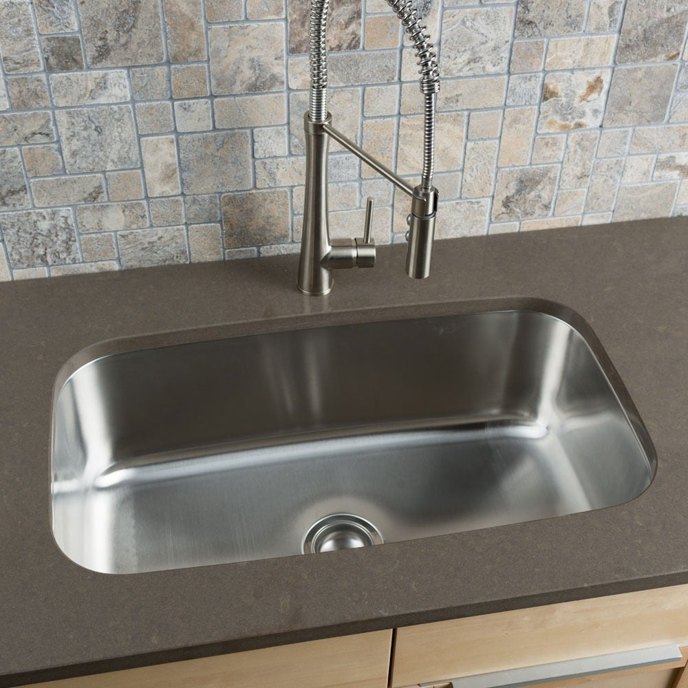 Shop clark stainless steel extra large single bowl undermount kitchen sink free shipping today overstock com 8769509