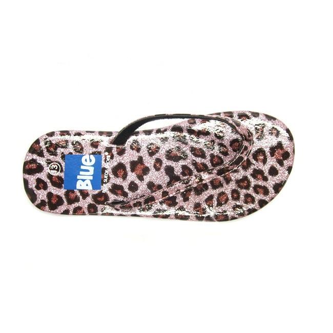 b86a6de91 Shop Blue Girls  K-Zambo  Animal Print Flip-flops - Free Shipping On Orders  Over  45 - Overstock - 8769777