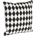 Harlequin Design Feather Filled Throw Pillow