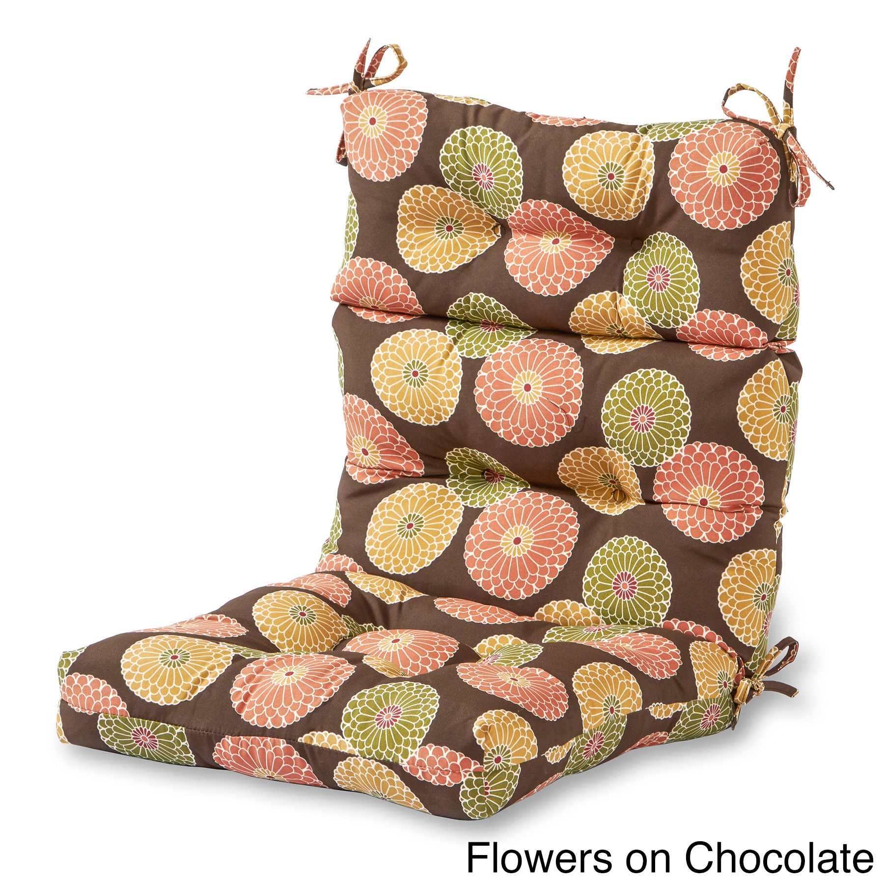 Shop Greendale Home Fashions Outdoor High Back Chair Cushion   22w X 44l    Free Shipping Today   Overstock.com   8771784