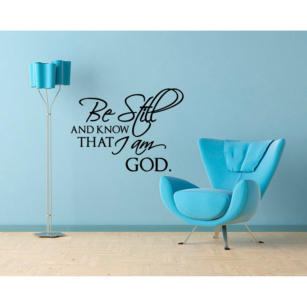 Be Still And Know That I Am God\' Vinyl Wall Decal - Free Shipping On ...
