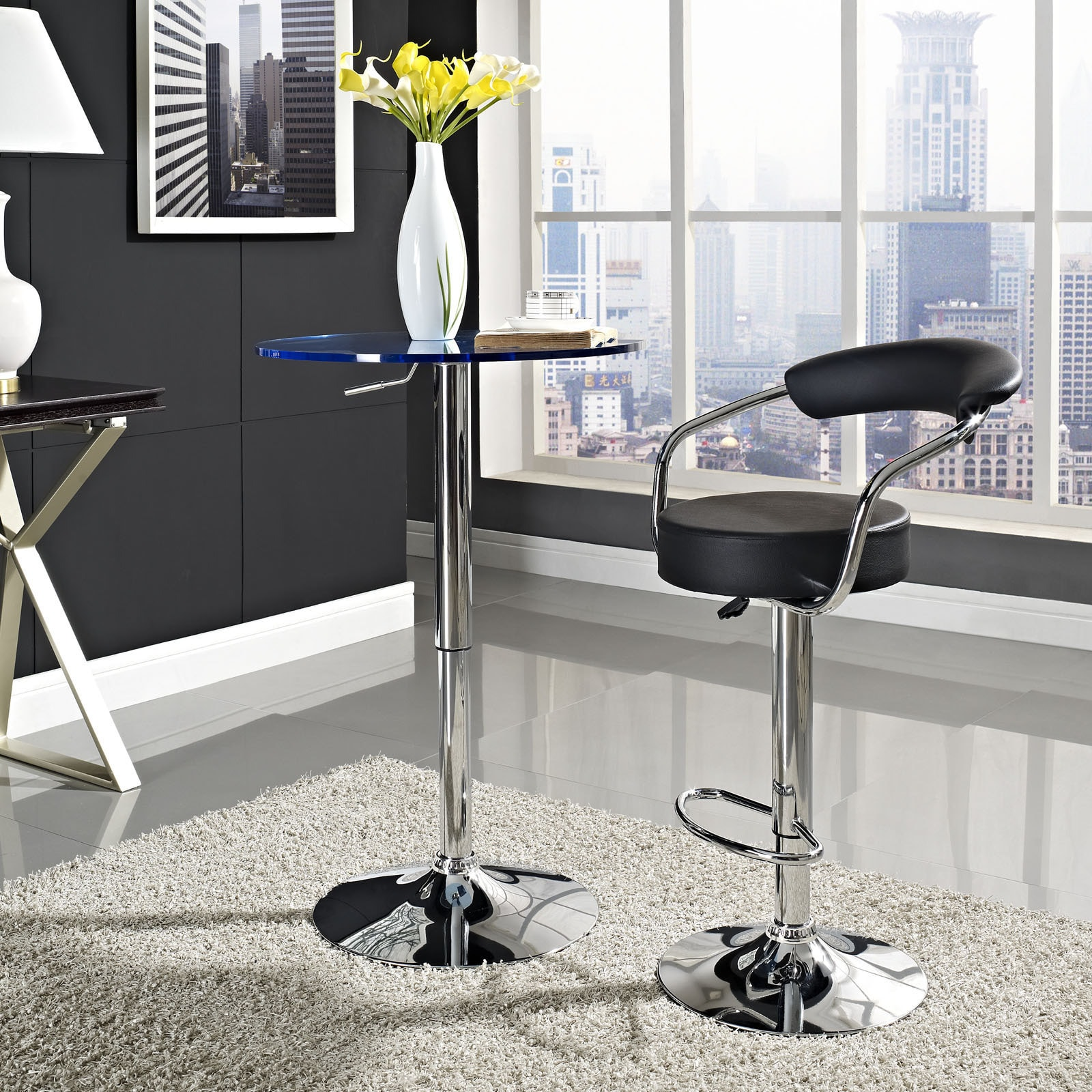 Shop 50s Diner Chrome Finish Bar Stool On Sale Free Shipping