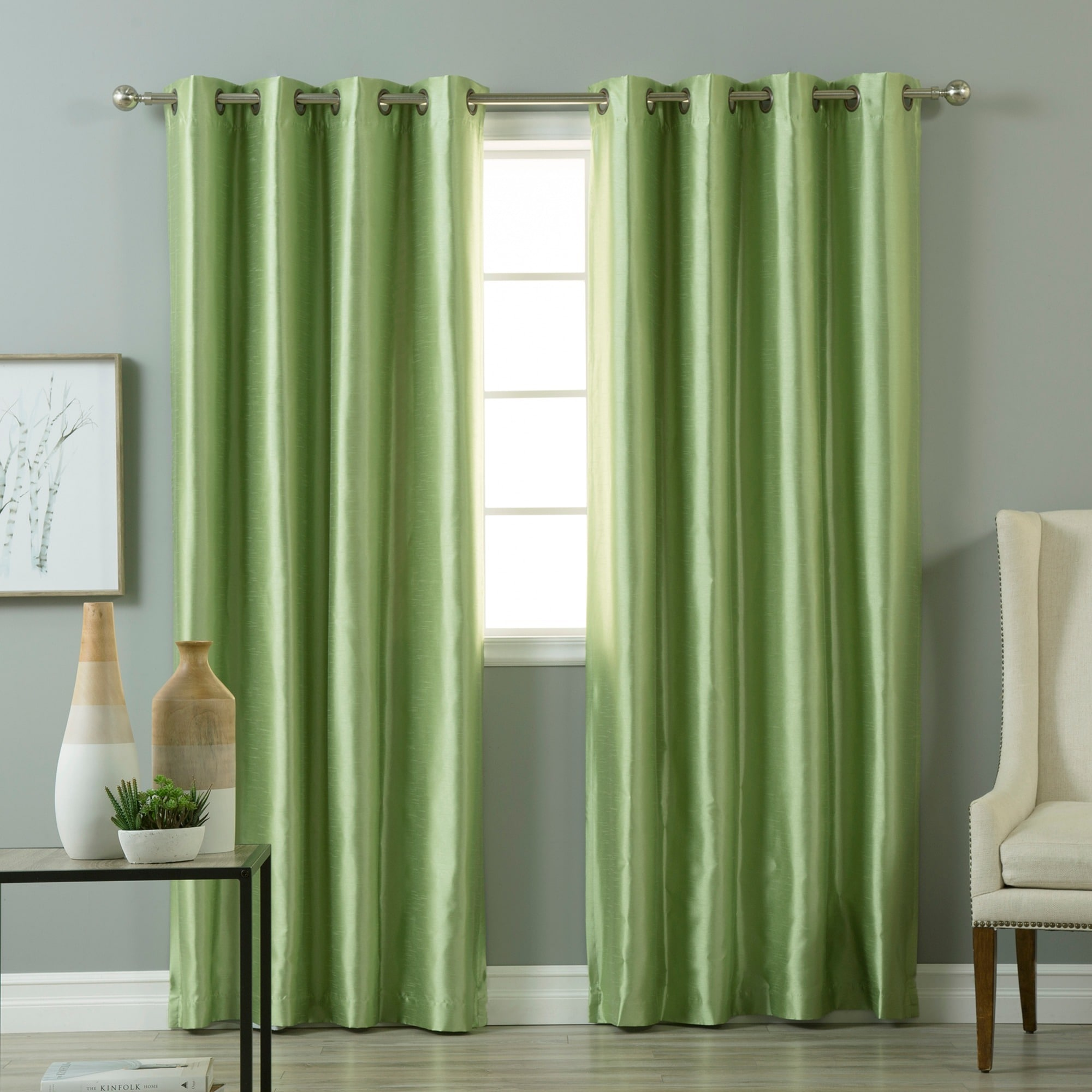 pair blackout free emerald product drapes panel garden shipping grommet green faux aurora curtain home top overstock silk today