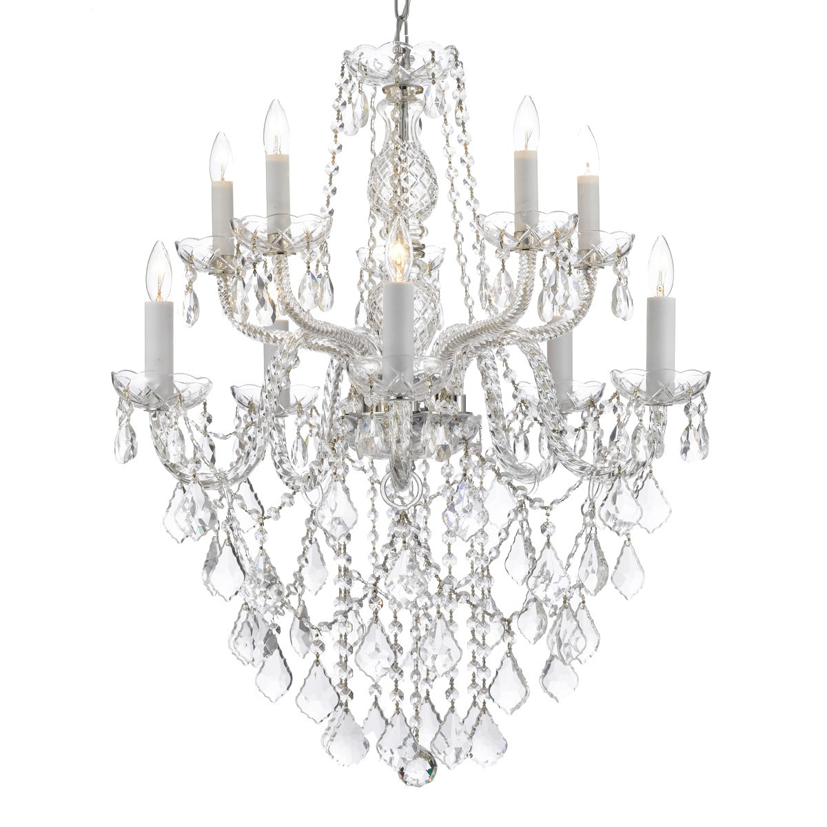 Gallery 10 light crystal chandelier free shipping today gallery 10 light crystal chandelier free shipping today overstock 16018079 arubaitofo Choice Image