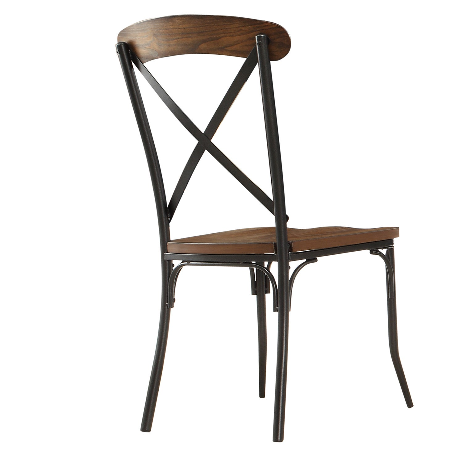Nelson Industrial Modern Rustic Cross Back Dining Chair By INSPIRE Q  Classic (Set Of 2)   Free Shipping Today   Overstock.com   16023681