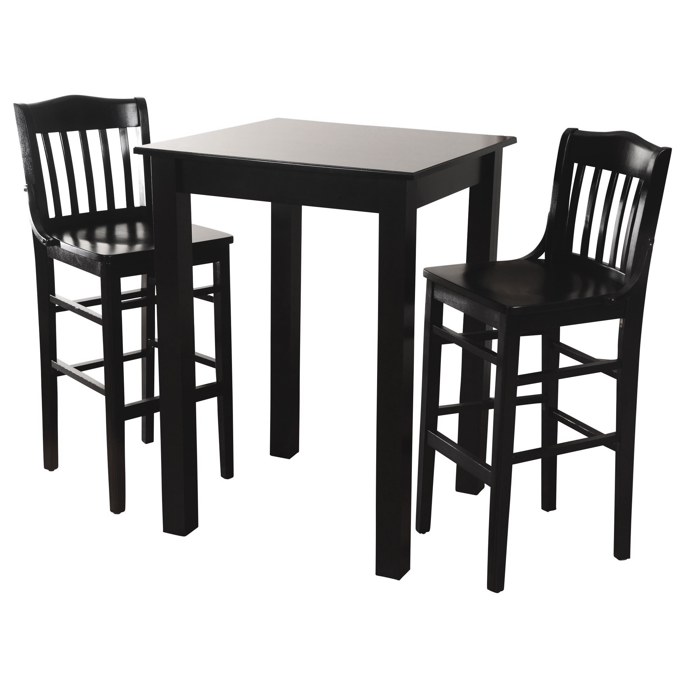 Shop Library Solid Wood 3 Piece Bar Table Set   Free Shipping Today    Overstock.com   8785058