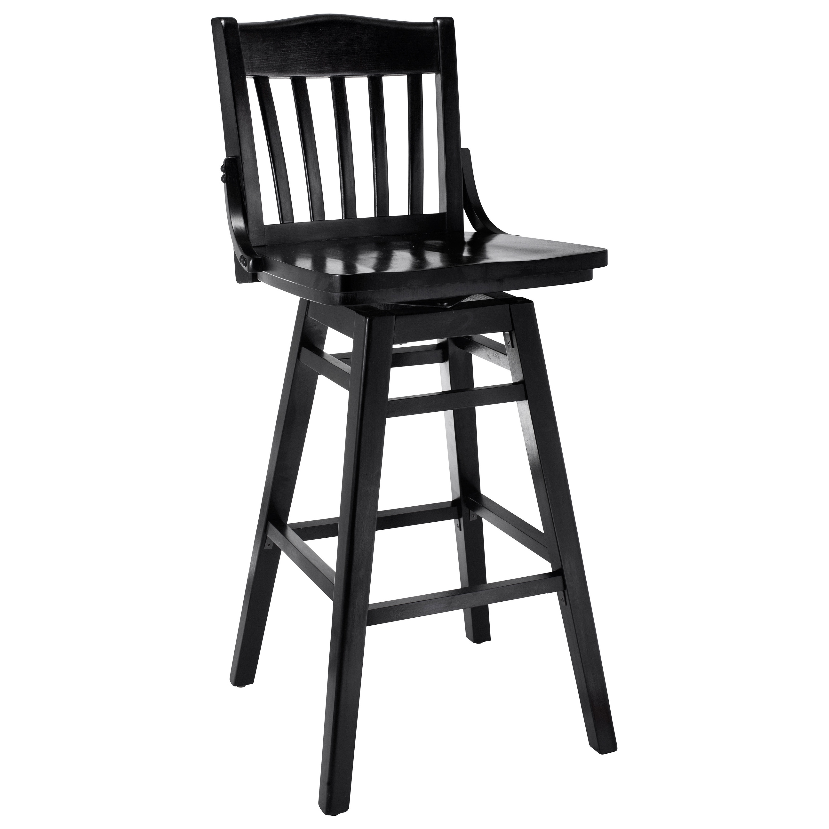 Shop library beech wood swivel bar stool on sale free shipping today overstock com 8785059