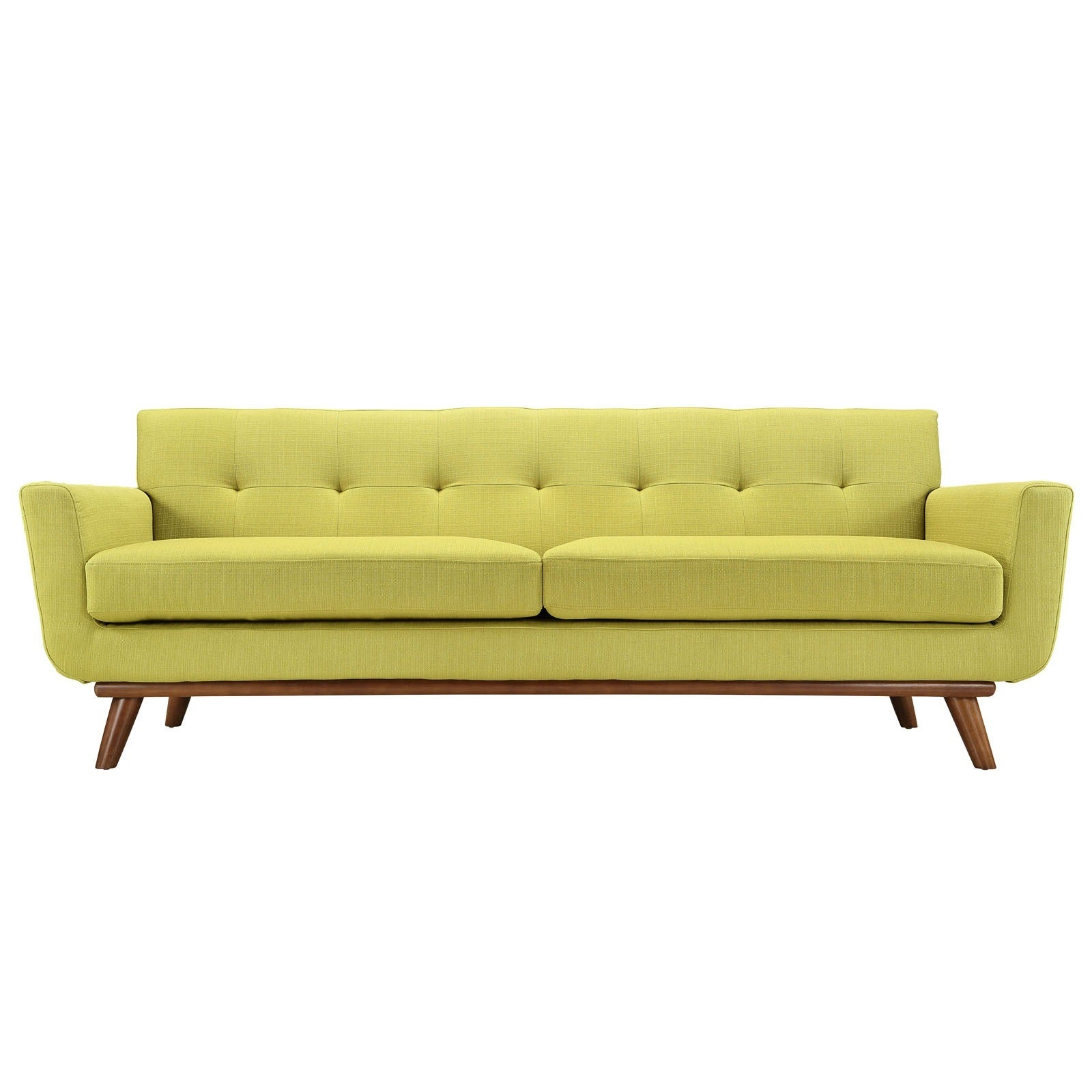 High Quality Modway Engage Mid Century Fabric Upholstered Sofa   Free Shipping Today    Overstock   16027573