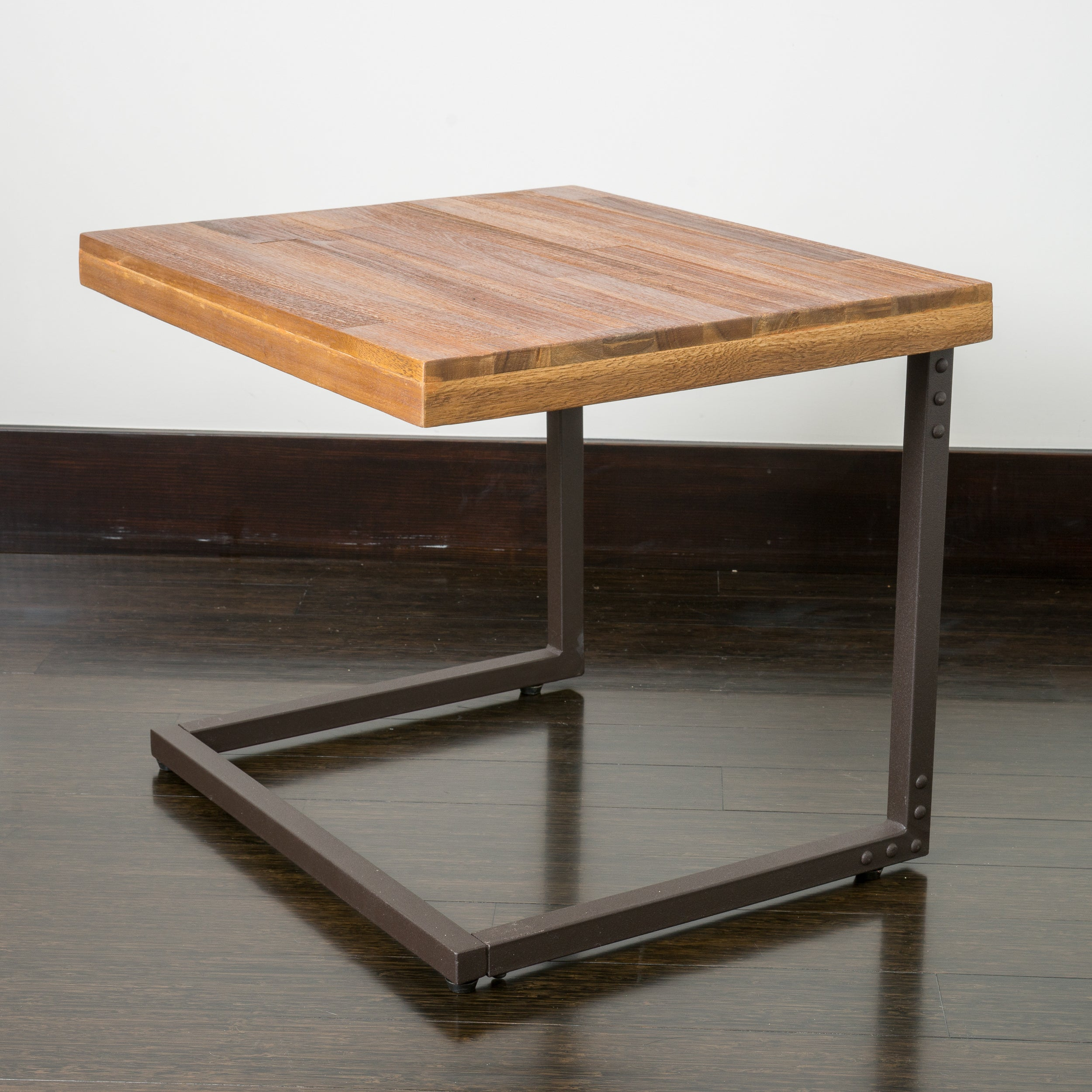 Braeden Sandblast Rustic Wood Iron Nested Tables (Set Of 2)   Free Shipping  Today   Overstock.com   16045026
