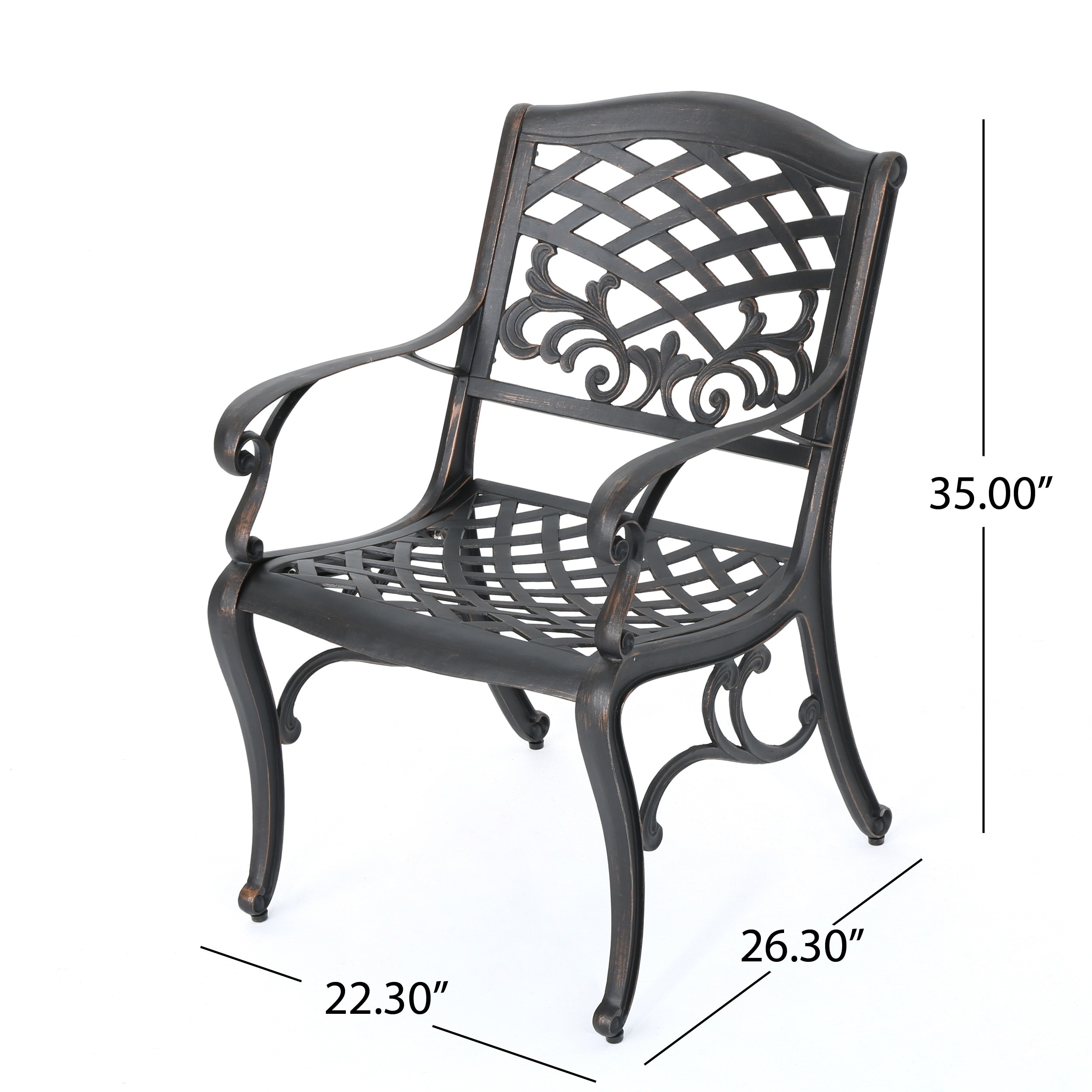 Sarasota Cast Aluminum Outdoor Chair by Christopher Knight Home ...