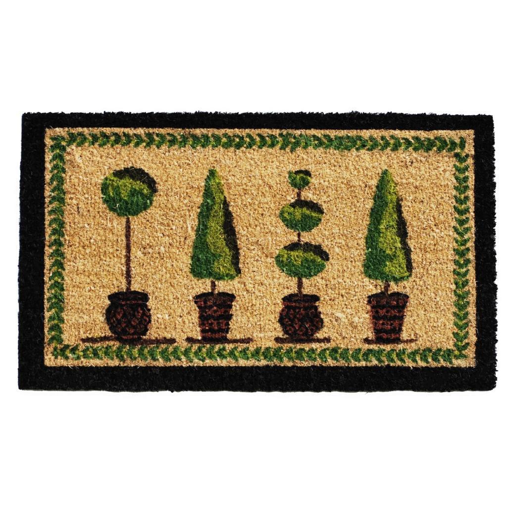 Topiary' Coir/ Vinyl Weather-resistant Doormat (1'5 x 2'5) - Free ...