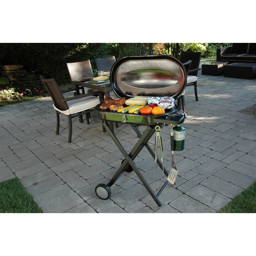 Merveilleux Shop Cuisinart CGG 440 Portable Gas Grill With Rolling Cart   Free Shipping  Today   Overstock.com   8814750