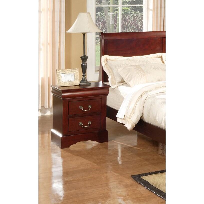 Alpine Furniture Louis Philippe II 4-piece Bedroom Set - Cherry ...