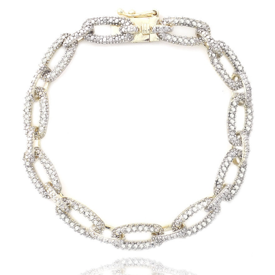 DB Designs 1ct TDW Diamond Chain Link Bracelet Free Shipping Today