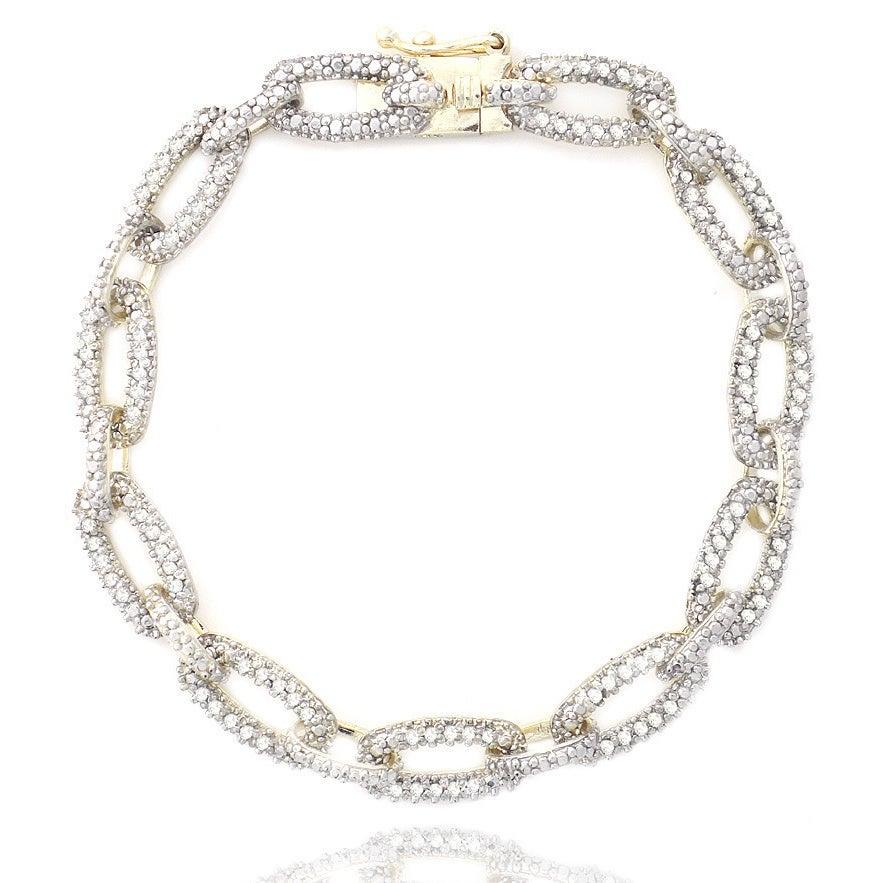 DB Designs 1ct TDW Diamond Chain Link Bracelet Free Shipping Today