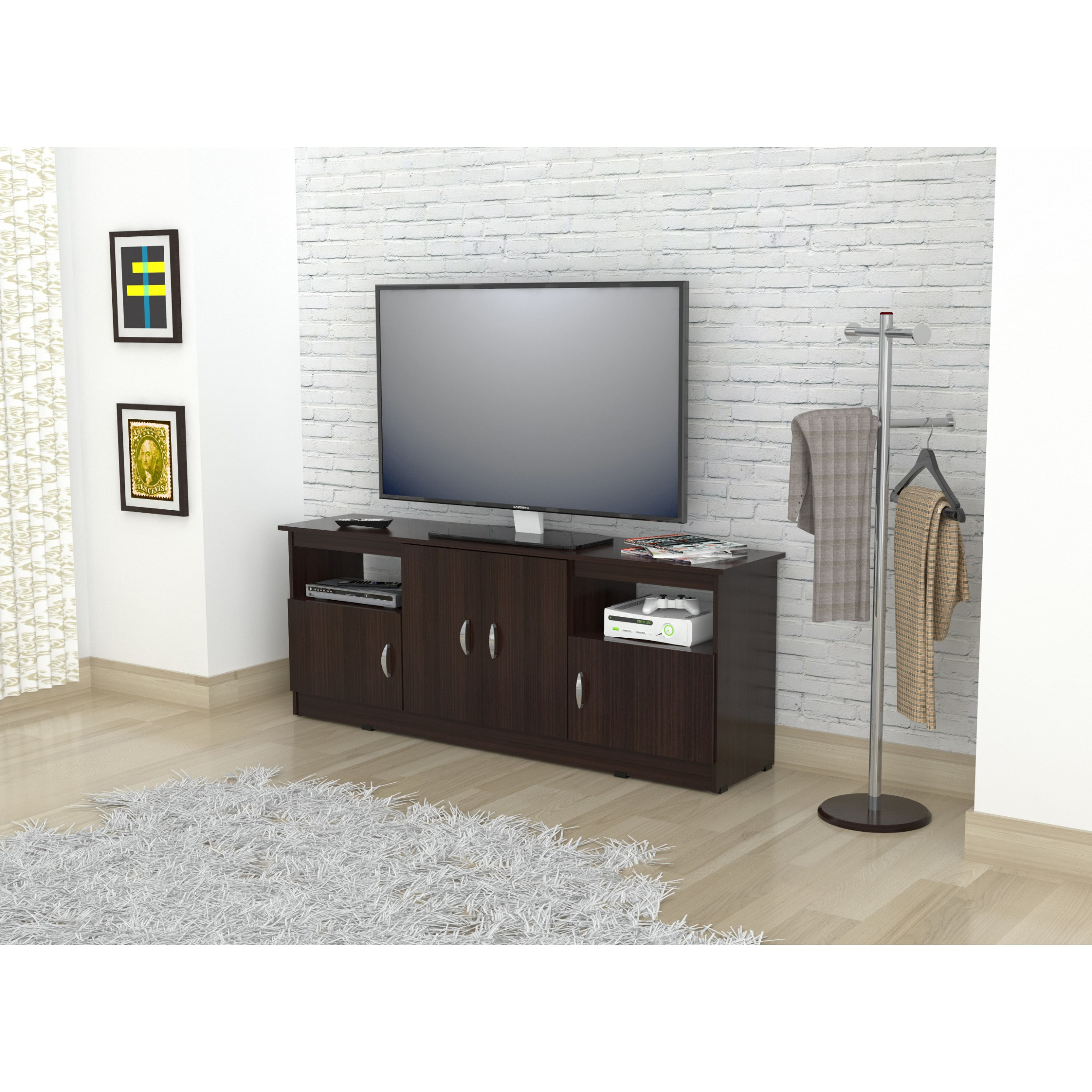Shop Inval 60 Inch Espresso Wenge Flat Panel Tv Stand On Sale