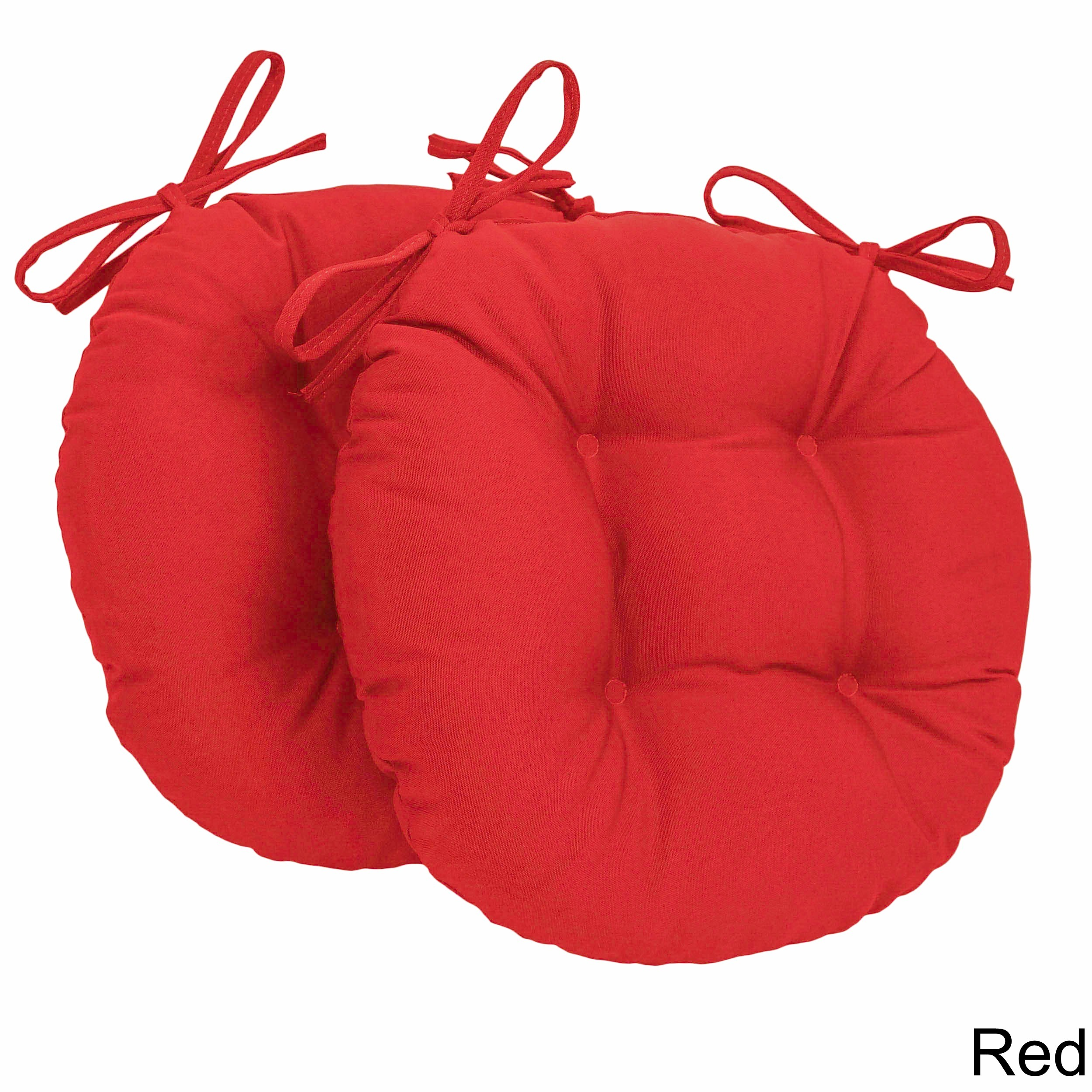 Shop Blazing Needles Tufted Twill Round Chair Cushions (Set Of 2)   On Sale    Free Shipping On Orders Over $45   Overstock.com   8816426