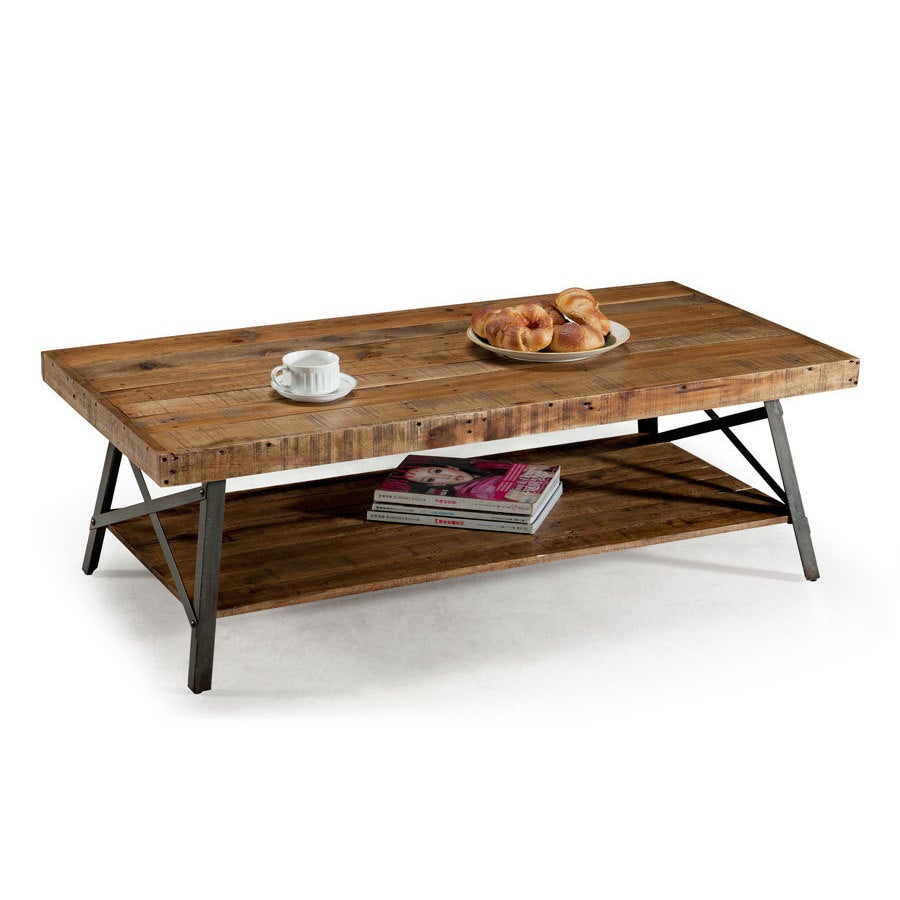 Rustic Reclaimed Wood Coffee Table - Free Shipping Today - Overstock.com -  16050859