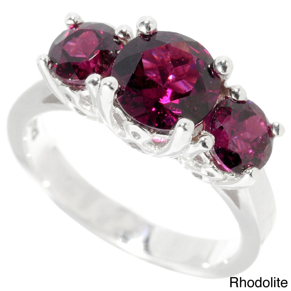 engagement gemstone order rings garnet stones sterling made to white three sapphire media rhodolite ring stacking and silver
