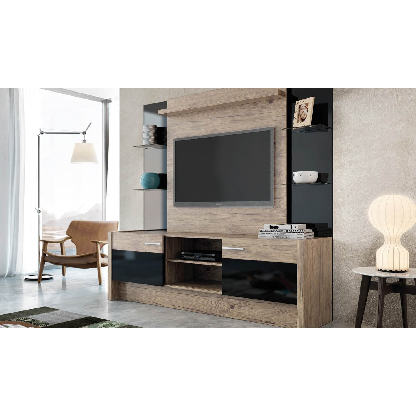 Shop Manhattan Comfort Morning Side Entertainment Center Free