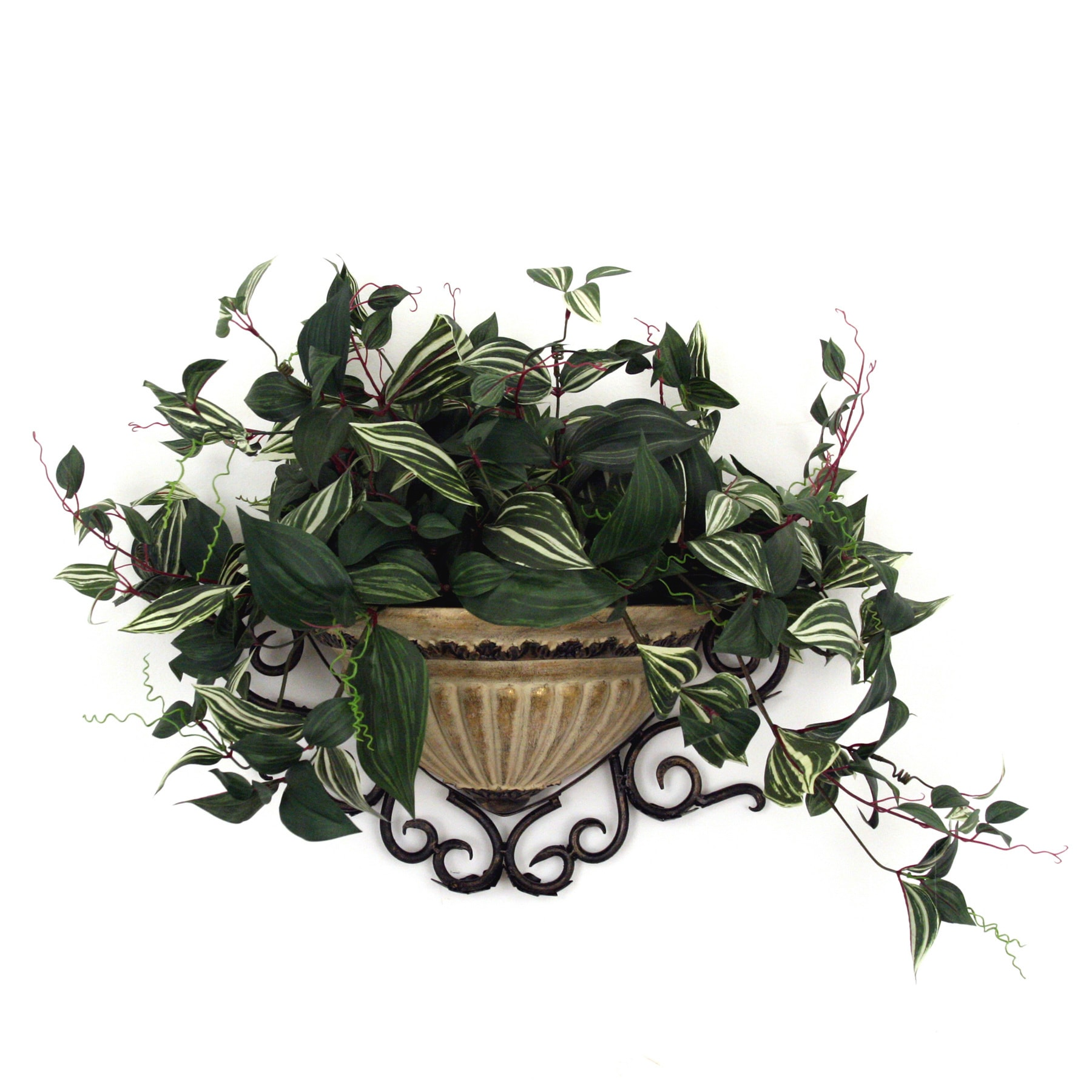 Shop Camilla Wandering Jew Wall Sconce Silk Plant Free Shipping