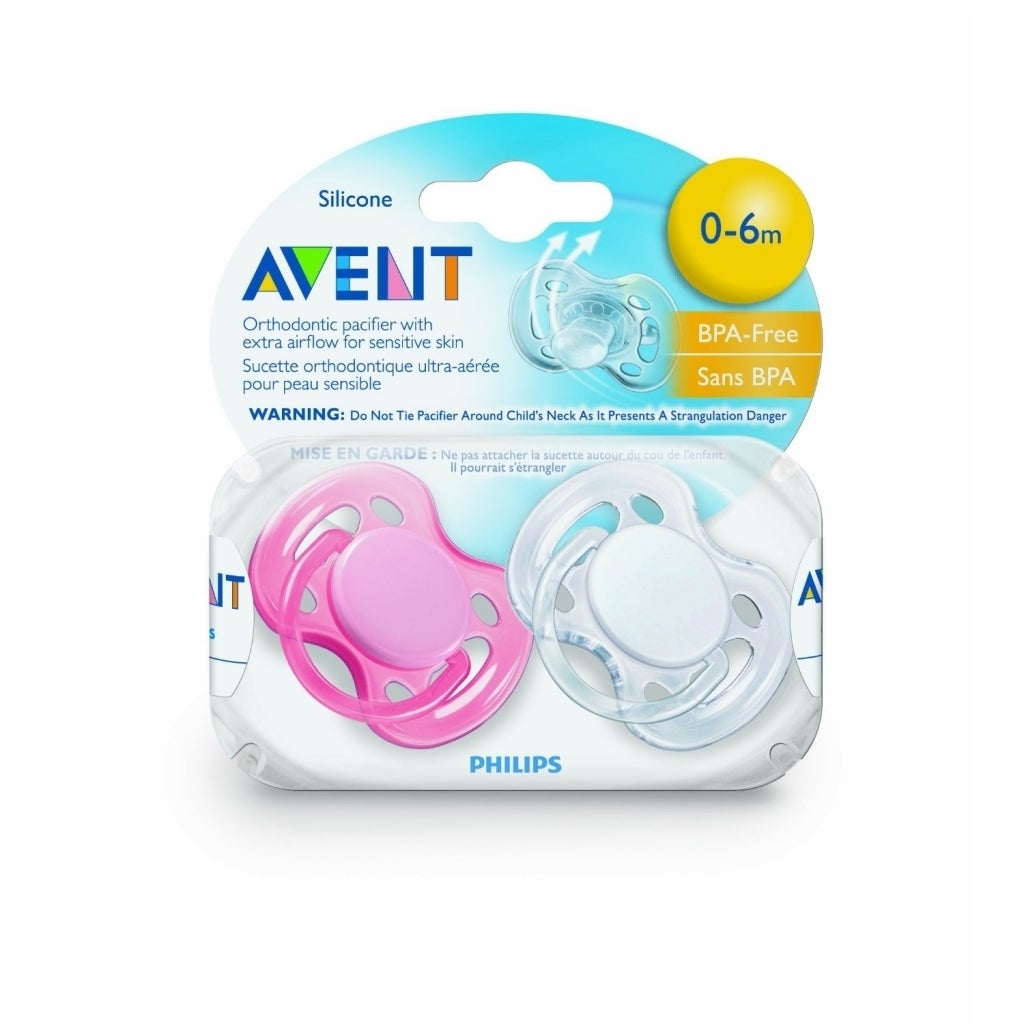 Shop Philips Avent Freeflow 0 6 Months Pacifier Pack Of 2 Free Single Soother 6m White Shipping On Orders Over 45 8818759