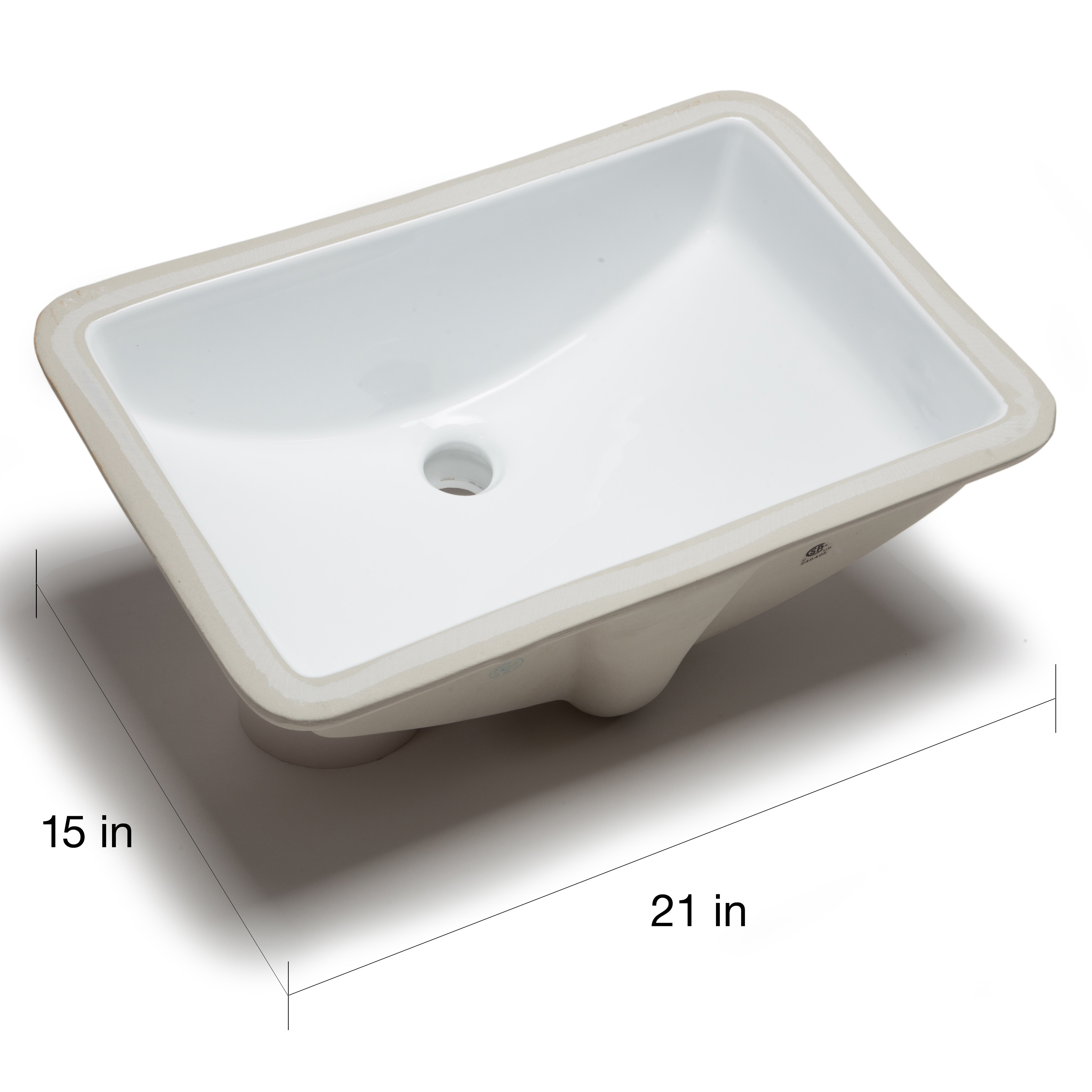 Hahn White Ceramic Large Rectangular Undermount Bathroom Sink Free Shipping Today 8818832