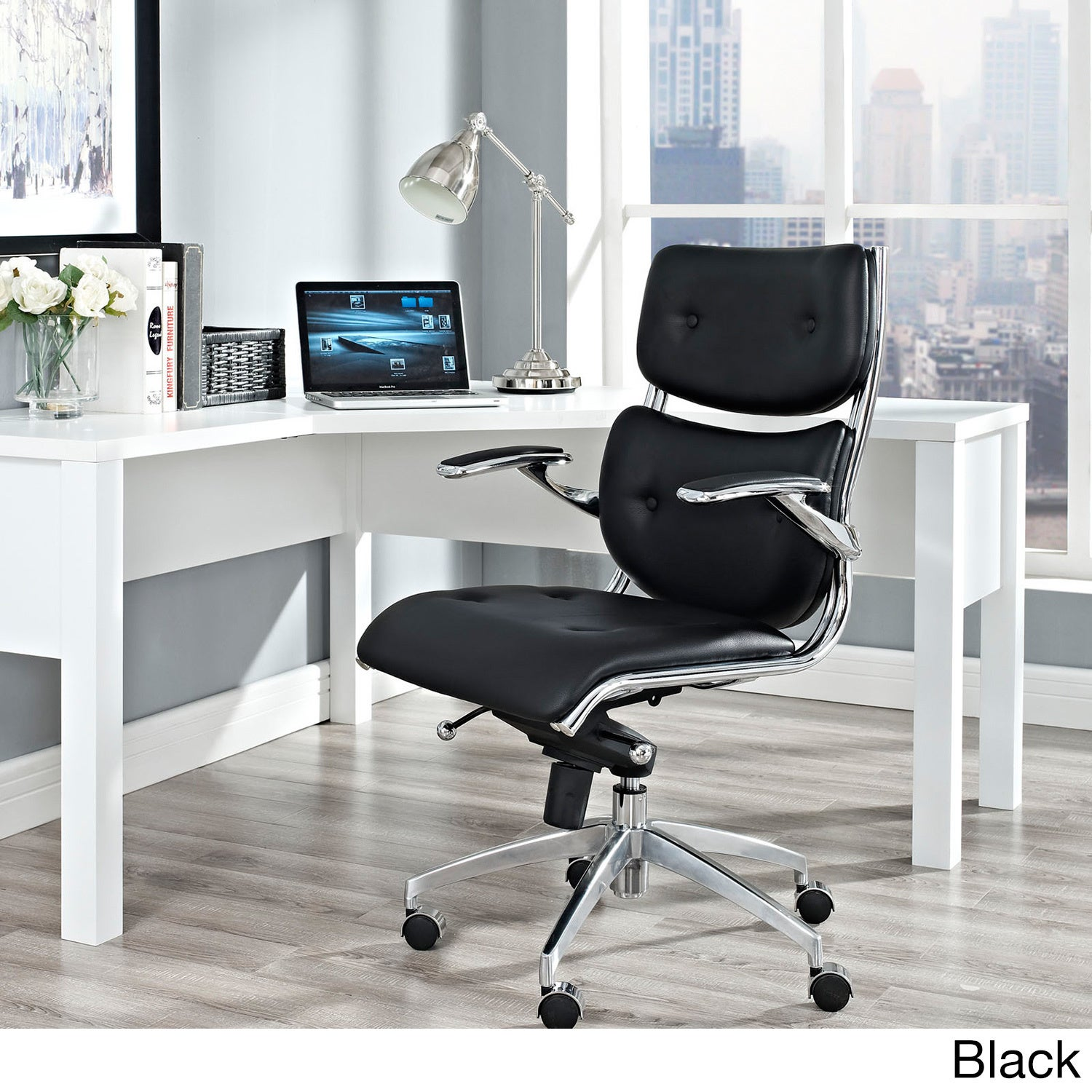 modway up seat swivel office padded and computer back arms chair flip mid black task mesh ergonomic with meofch