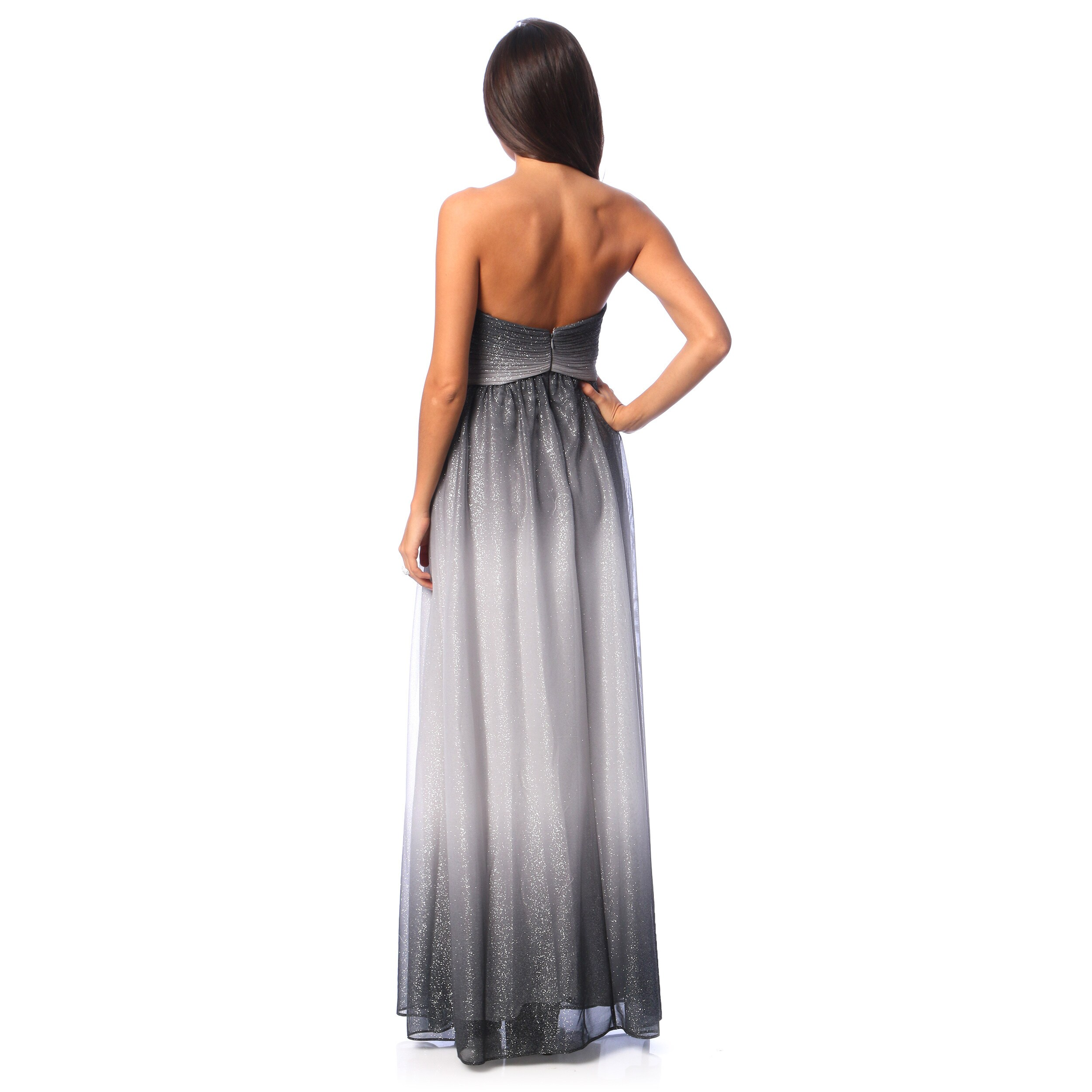 3847ac43333c Shop Cachet Women's Gunmetal Sleeveless Glitter Mesh Gown - Free Shipping  Today - Overstock - 8822260