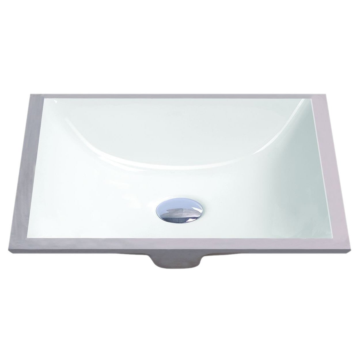 Shop ticor white vitreous porcelain undermount bathroom sink free shipping today overstock com 8822324