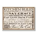 Kitchen Rules' Oversized Typographic Ready to Hang Wall Plaque