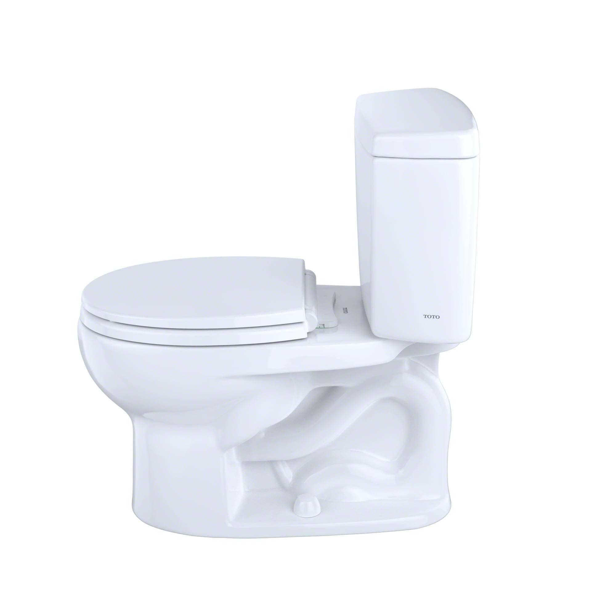 Shop Toto Drake Two-Piece Round 1.6 GPF Toilet CST743S#01 Cotton ...