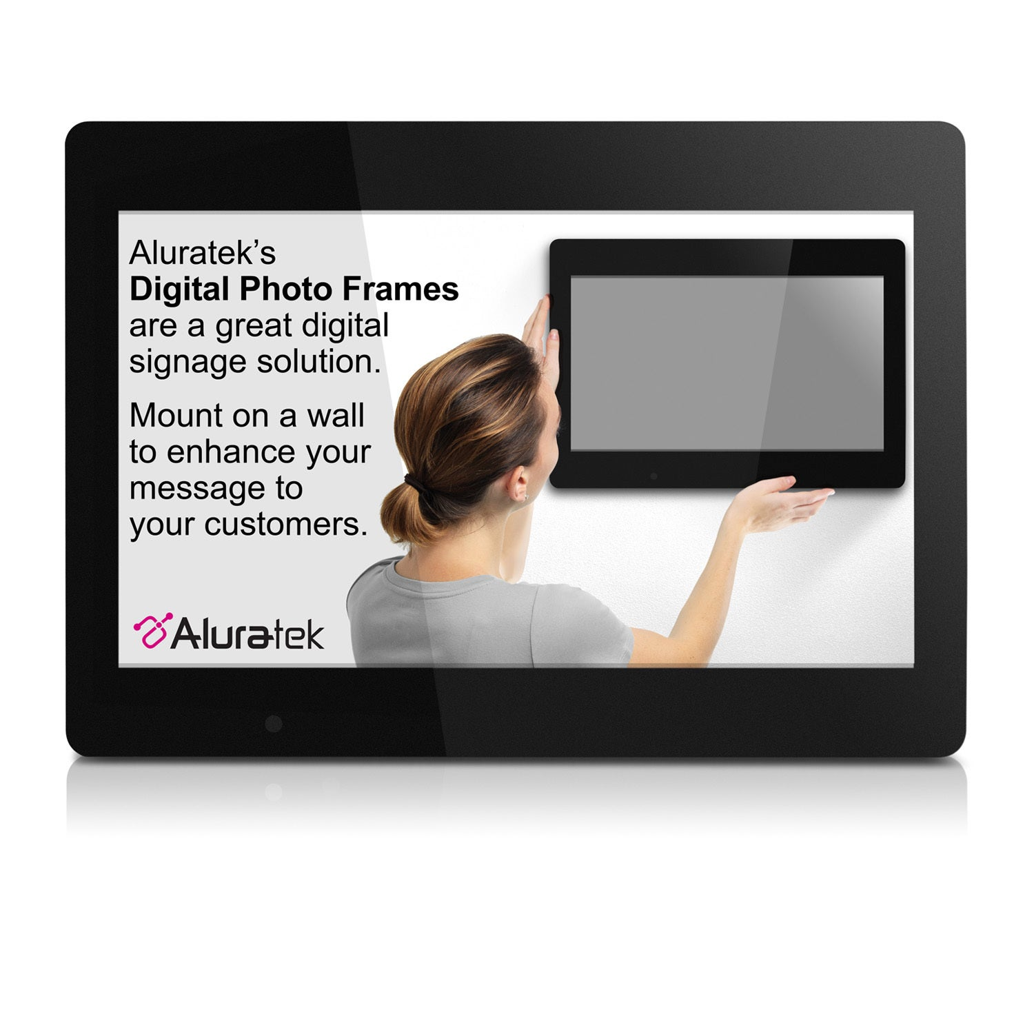Aluratek 18.5 inch Digital Photo Frame with 4GB Built-in Memory ...