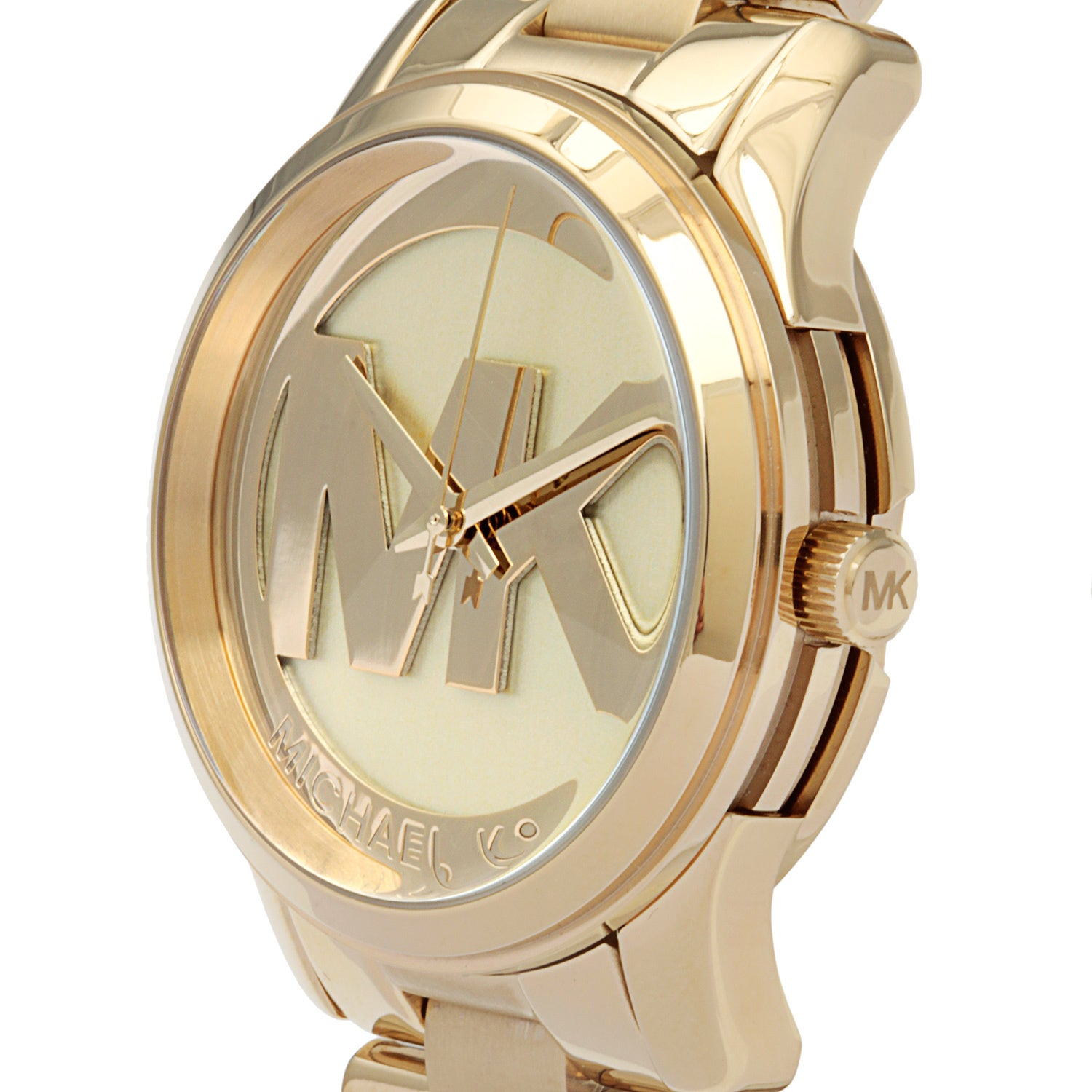 8137c346764d Shop Michael Kors Women s MK5786 Runway Goldtone Watch - Free Shipping  Today - Overstock - 8829941