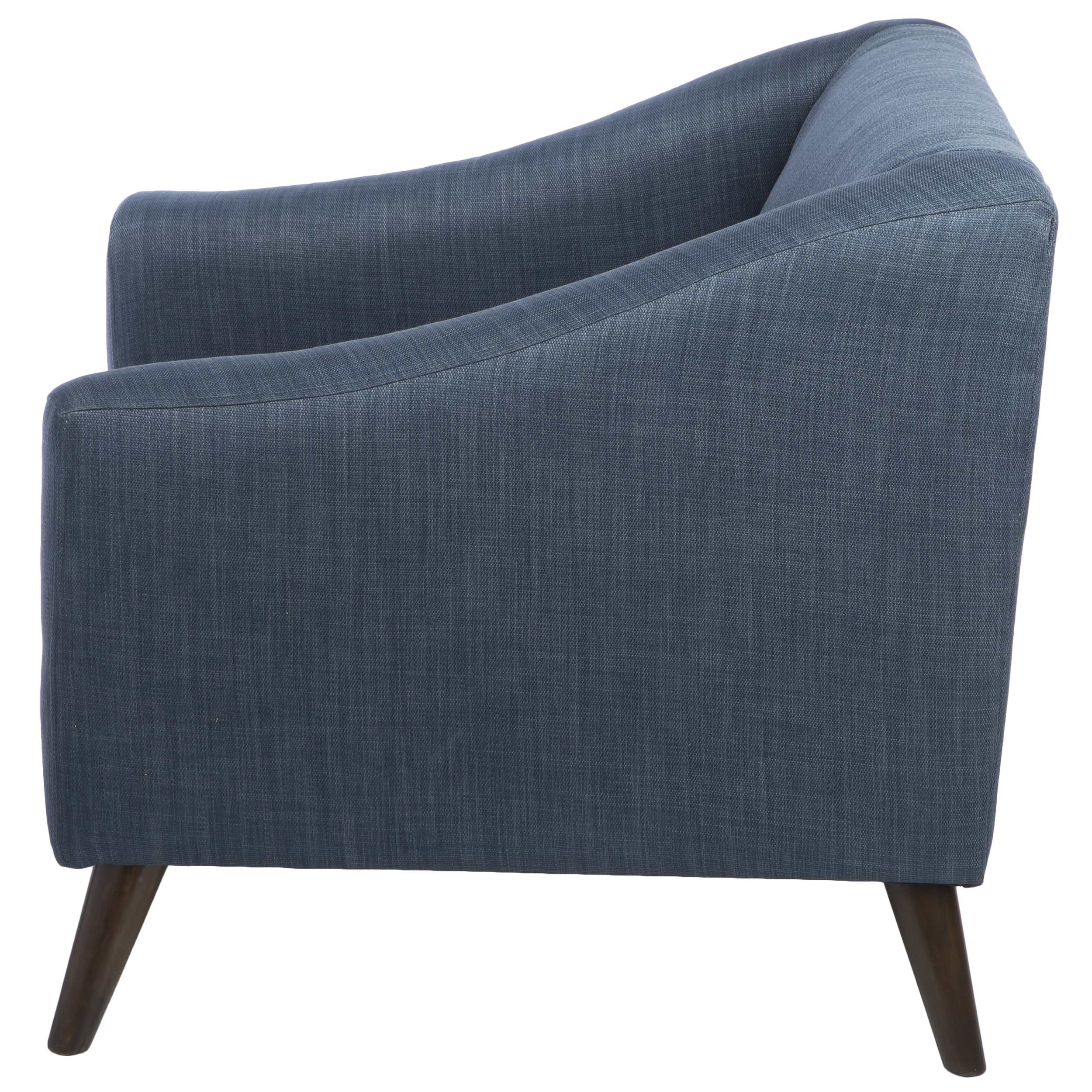 Carson Carrington Quincy Blue Linen Upholstered Arm Chair   Free Shipping  Today   Overstock   16061897