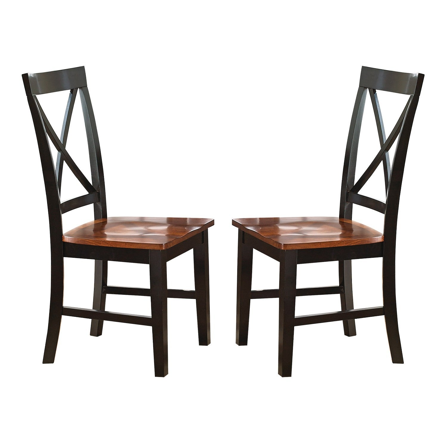 Greyson Living Keaton Black/Oak Solid Wood Dining Chair (Set Of 2)   Free  Shipping Today   Overstock.com   16062294