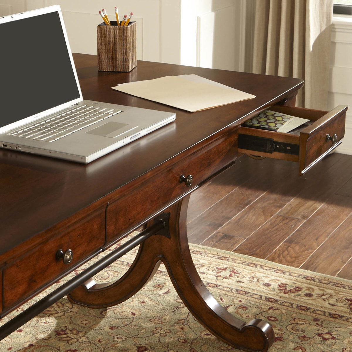Brookview Rustic Cherry Writing Desk Free Shipping Today 16062990